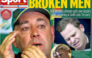 Back page headline 'Broken Men'